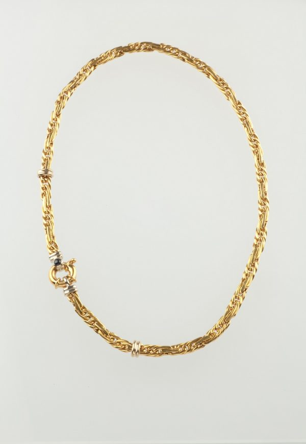 Gold chain necklace K18